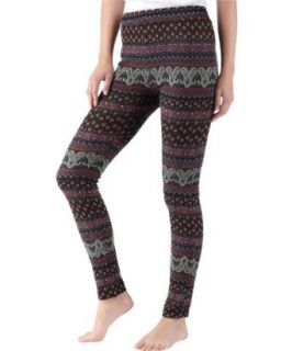 Browns Paisley Printed Leggings Black (36/38): .de: Bekleidung