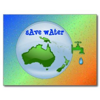 save water postcards