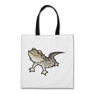 Cartoon Bearded Dragon / Rankin Dragon Canvas Bags