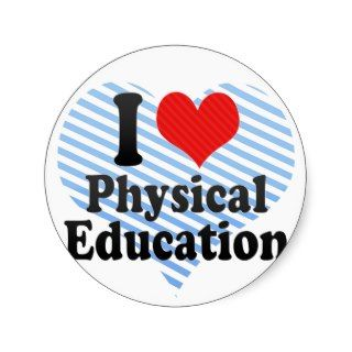 Love Physical Education Stickers