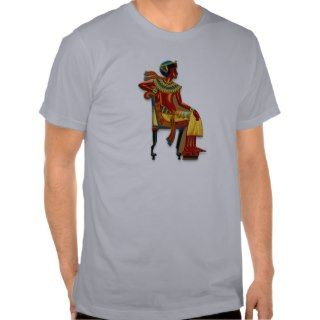 King Tut on his Throne T Shirts