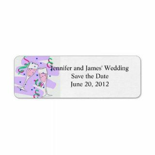 Cute Wedding Clipart return Address Labels