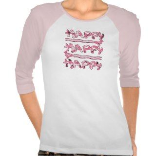 Happy Happy Happy Pink Camouflage Ducks T Shirts