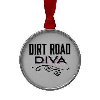Dirt Road Diva Christmas Tree Ornament