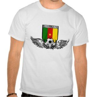 Cameroon football fans emblem shield badge tees