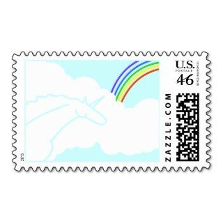 Ode to the 70s Unicorns and Rainbows Stamp