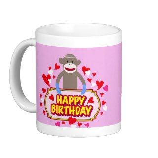 Happy Birthday Monkey. Coffee Mug