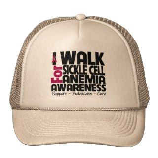 Walk For Sickle Cell Anemia Awareness Trucker Hat