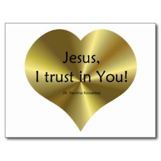 Divine Mercy: Jesus I trust in You Post Card