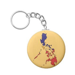 Philippines flag map key chains