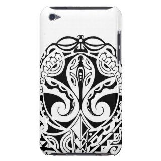 Polynesian mask tattoo design iPod touch case