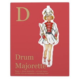 is fro Drum Majorette Fashion alphabet Plaques