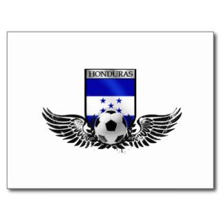 Honduras winged Honduran soccer futbol badge Post Card