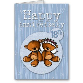 happy anniversary bears   18 year card