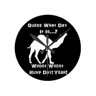 White Hump Day Camel Round Clock