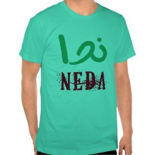 NEDA in English and Farsi Tee Shirts