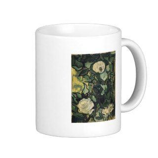 Vincent Van Gogh White Roses Vintage Rose Art Coffee Mugs
