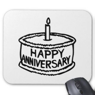 Happy Anniversary Mouse Pads
