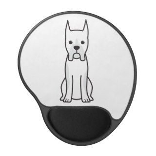 Boxer Dog Cartoon Gel Mousepads