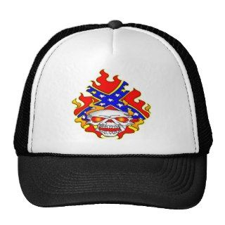 Confederate Flag Rebel Skull Hat