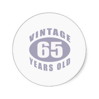 65th Birthday Gifts For Him Stickers