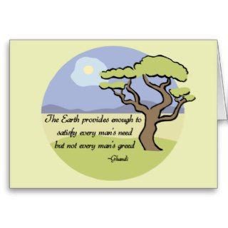 Ghandi Earth quote Cards