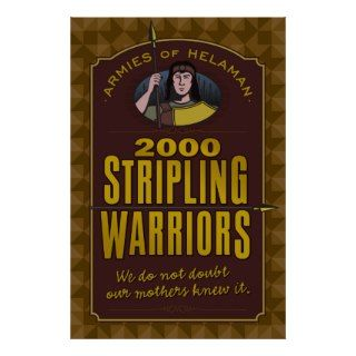 2000 Stripling Warriors poster.