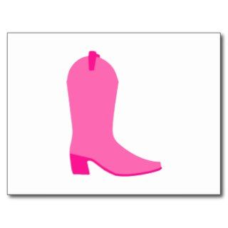 Pink Cowgirl Boot Post Cards