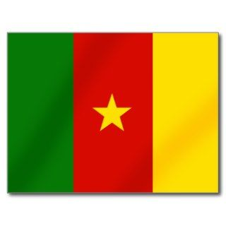 Cameroonian flag of the Cameroon gifts Post Cards