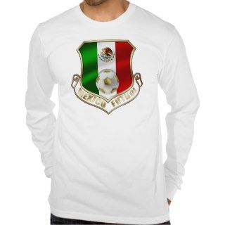 Mexicano Futbol badge emblem soccer Shield Shirts