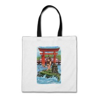 Grimm Fairy Tales   Little Mermaid at Itsukushima Canvas Bags