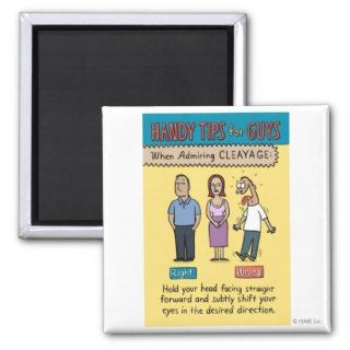 Tips for Guys Admiring Cleavage Poster Print Magnets