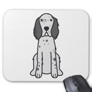 English Setter Dog Cartoon Mouse Pads