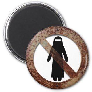 Forbidden for burqa fridge magnets