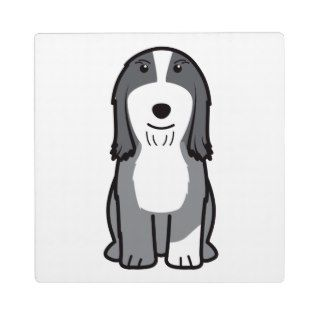 Bearded Collie Dog Cartoon Display Plaque
