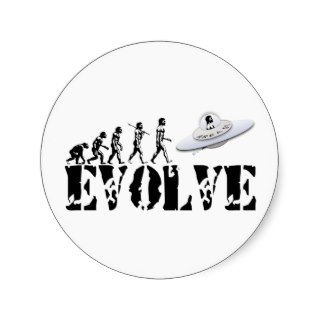 Alien UFO ET Area 51 Evolution Stickers