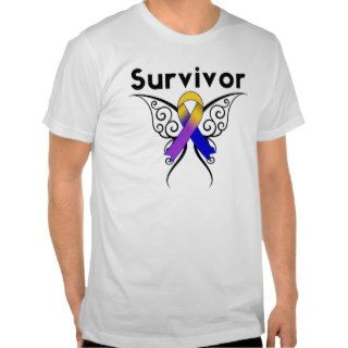 Bladder Cancer Butterfly Tattoo Ribbon Shirt