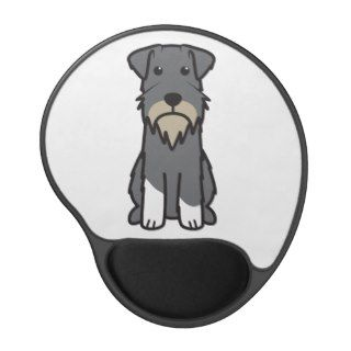 Miniature Schnauzer Dog Cartoon Gel Mouse Pad