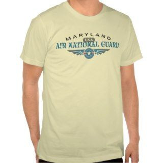 Maryland Air National Guard T shirts