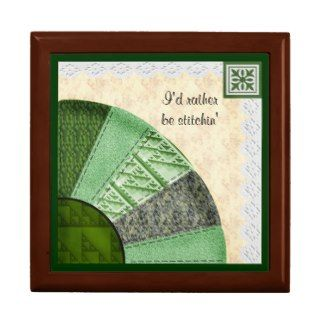 Fan Quilt Pattern Gift Box