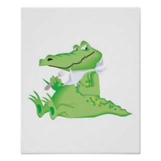 hungry hungry alligator poster