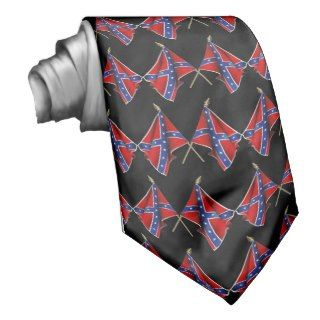 Black Confederate Flag Tie.