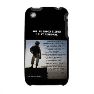 The Soldiers Creed Military Warrior Ethos iPhone 3 Cases