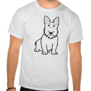 Scottish Terrier Dog Cartoon T shirt
