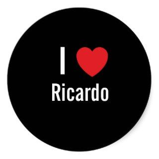 love Ricardo Round Stickers