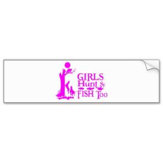 GIRL COON HUNTING BUMPER STICKERS
