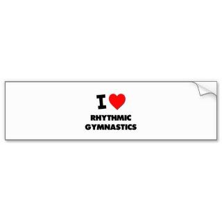 Love Rhythmic Gymnastics Bumper Stickers