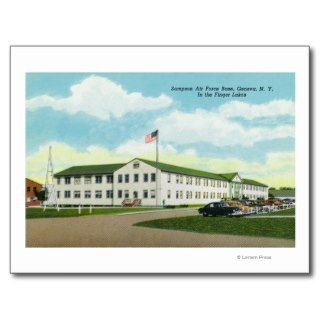 Sampson Air Force Base Building Postcard