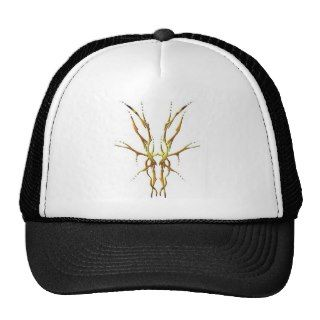 Tribal Deer Skull Tattoo   gold Mesh Hat