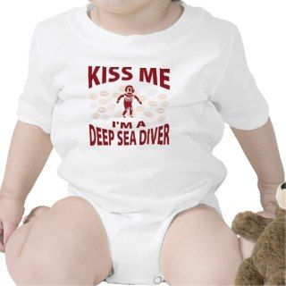 Kiss Me Im A Deep Sea Diver Bodysuits